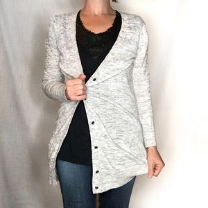 Ann Taylor LOFT heathered Cardigan Sweater
